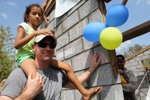 One of the homes MCRE built in Nicaragua